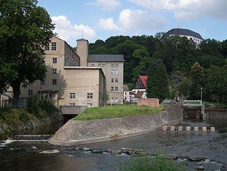 Sachsenburg concentration camp - Textile mill under the castle Sachsenburg