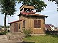 Sacred Heart wooden church in Jeleniewo - bell tower (1).JPG