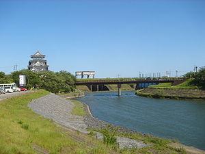 Sai River (Gifu) - The Sai River flowing alongside Sunomata Castle
