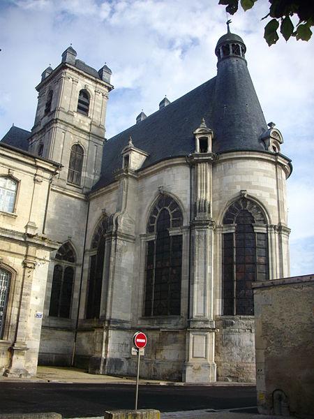 Saint Michael abbey church of Saint-Mihiel (Meuse, France). Apse