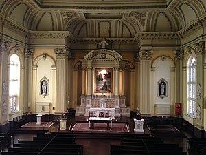 St. Ignatius Church (Baltimore) - The church sanctuary