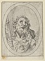 Saint James Major, looking upwards and holding a staff, from Christ, the Virgin, and Thirteen Apostles MET DP841751.jpg