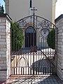 Saint Nicholas Church, gate, IHS, 2020 Sárvár.jpg