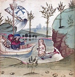 "Solomon and Marcolf - Illustration from ""Salman und Morolf"" by Hans Dirmstein, Frankfurt am Main 1479"