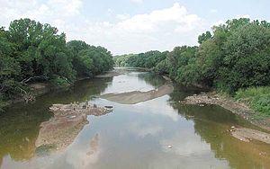 Salt Fork Arkansas River - The Salt Fork at Tonkawa, Oklahoma