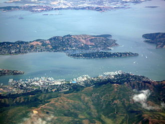 Belvedere, California - Aerial view of Belvedere and the Tiburon Peninsula
