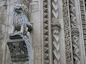 Detail of the Cathedral's portal.