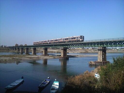 Sangū Line Miyagawa railway bridge