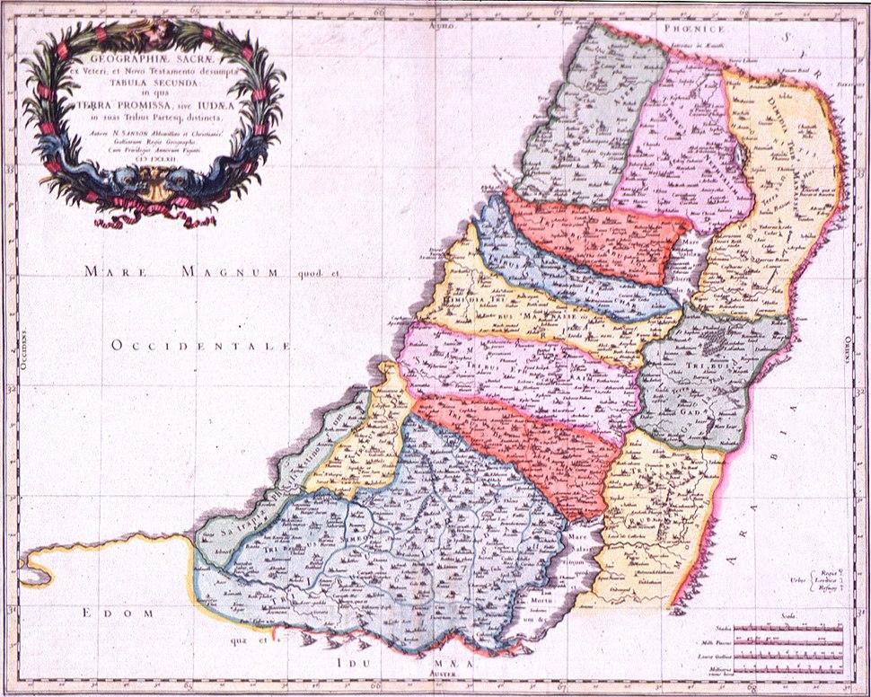 Sanson. Geographiae Sacrae ex Veteris et Novo Testamento desuptae Tabula Secunda in qua Terra Promissa Sie Judaea. 1662