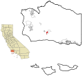 Santa Barbara County California Incorporated and Unincorporated areas Solvang Highlighted.svg