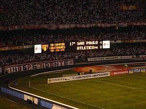 Copa Libertadores - São Paulo became tri-campeão after defeating Atlético Paranaense in 2005.