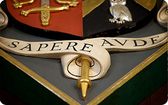 Manchester Grammar School - Sapere Aude, the Manchester Grammar School school motto