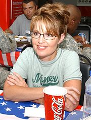 Governor Palin in Kuwait visiting soldiers of the Alaska National Guard
