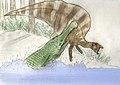 Sarcosuchus imperator et Ouranosaurus nigeriensis.jpg