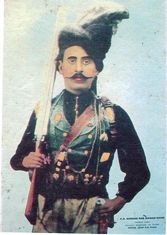 Khetran - Sardar Rab Nawaz Khan Khetran Chief (Tumandar), head of Khetran Baloch tribe during British rule
