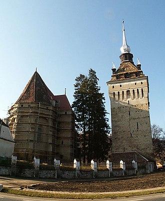 Saschiz fortified church - Image: Saschiz church