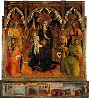 Sassetta. Madonna and Child with Saints. 1430-32.Contini-Bonaccossi coll. Florence..jpg
