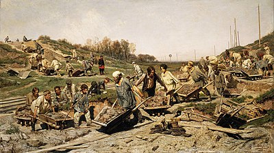 Savitsky Repair work on the railway gtg.jpg
