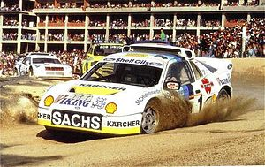Martin Schanche - 1992: Schanche in his Ford RS200 E2 en route to victory in Portugal