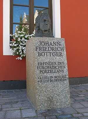 Johann Friedrich Böttger - Memorial in Schleiz