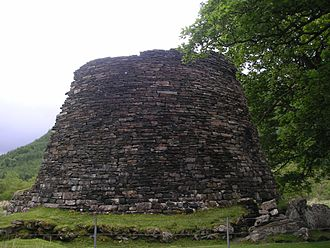 Scotland during the Roman Empire - Dun Telve broch in Glenelg