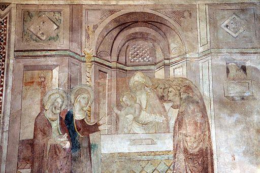 Scuola di Bartolo di Fredi, scene Mariane, 1389, Presentazione al tempio,