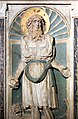 Scuola di donatello, ancona con madonna col bambino tra i ss. girolamo e domenico, xv secolo, 05.jpg