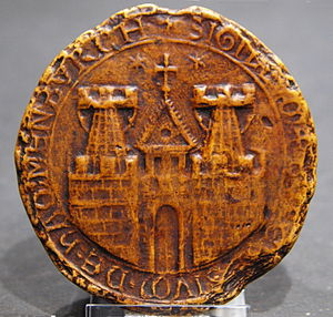 Coat of arms of Hamburg - First known seal of 1241 (Replica)