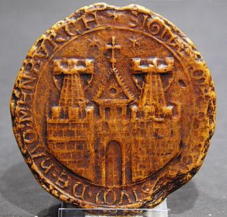 German heraldry - Seal of the City of Hamburg of 1241