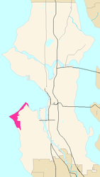 The Alki region of West Seattle