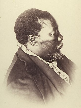 Sechele I - Portrait taken by German anthropologist Gustav Fritsch at Ntsweng (nowadays, Old Molepolole) in 1865.