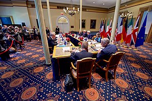 Ballou Hall - Image: Secretary Kerry Addresses European Counterparts During Meeting at Tufts University in Massachusetts (29787387822)