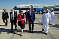 Secretary Kerry Chats With Ambassador Leaf Upon Arrival in Abu Dhabi (23210505826).jpg