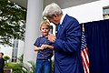 """Secretary Kerry Listens as a Youngster Continually Answers """"yes"""" to His Questions in Abuja (29126945661).jpg"""
