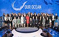 Secretary Kerry Poses for a Photo With Department of State Staff Members at the 2016 Our Ocean Conference (29487194304).jpg