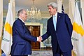 Secretary Kerry Shakes Hands With Cypriot Foreign Minister Kasoulidis After Addressing Reporters in Washington (27573605221).jpg