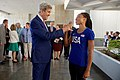 Secretary Kerry clasps hands with Olympic gold medalist and track star Allyson Felix in Rio de Janeiro (28172685373).jpg