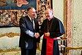 Secretary Pompeo Shakes Hands with Cardinal Parolin (48831172986).jpg