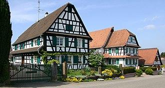 Seebach, Bas-Rhin - Image: Seebach Fachwerkhaus 12 gje