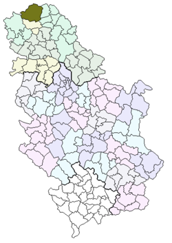Location of the city of Subotica within Serbia