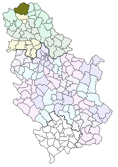 Location o Subotica athin Serbie