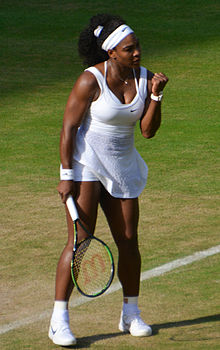 what time does serena williams play today at wimbledon