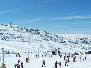 Geography of Portugal - Serra da Estrela, the highest mountain range in continental Portugal and popular tourist winter destination
