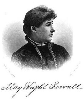 May Wright Sewall American suffragist