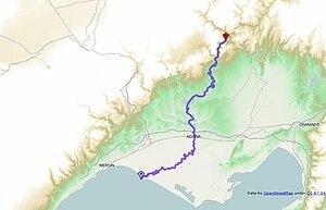 Seyhan River - Image: Seyhan river (map)