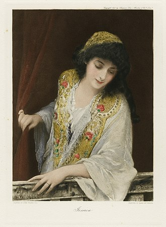 The Merchant of Venice - A depiction of Jessica, from The Graphic Gallery of Shakespeare's Heroines
