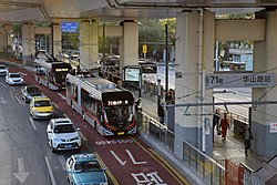 Shanghai Bus Route 71 Buses at Huashan Road Station.jpg