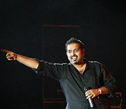 Shankar Mahadevan at the Shankar Ehsaan Loy Night.