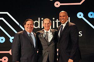 Gary Shapiro - Gary Shapiro with CTA's 2016 Digital Patriots Sen. Corey Booker and Rep. Blake Farenthold, in Washington, D.C.