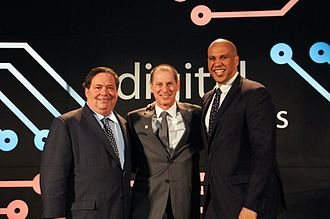 Gary Shapiro - Gary Shapiro with CTA's 2016 Digital Patriots Sen. Corey Booker and Rep. Blake Farenthold, in Washington, D.C.